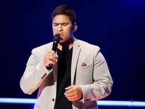 Arthur Bristowe performs during his knockout round on The Voice.