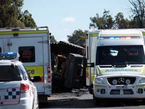 Man airlifted, Warrego Hwy shut after machinery incident