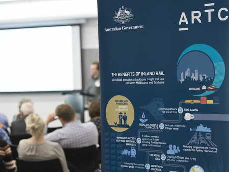Australian Rail Track Corporation ARTC Inland Rail Information Session: Gowrie to Helidon draft Terms of Reference at Toowoomba Library.