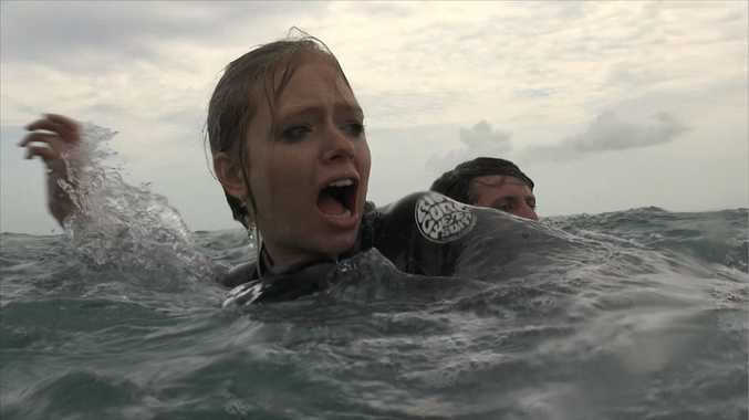 Megan Peta Hill is one of lead actors in Cage Dive, with 75% of scenes filmed in Hervey Bay.