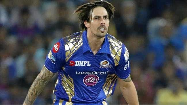 Mitchell Johnson delivers in the IPL final.