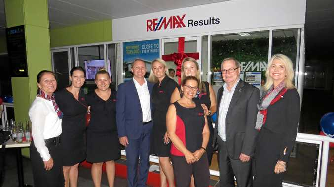 The Remax team (from left) Debby May, Melissa Kennedy, Sam Taylor, Dan Elliott, branch owner Hayley Van de Ven, regional development manager Emma Goodfellow (back), Dee Mangion, Remax Australia managing director Michael Advoren and Stacey Arlott.