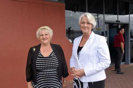 Capricornia MP Michelle Landry and Rockhampton Region mayor Margaret Strelow.