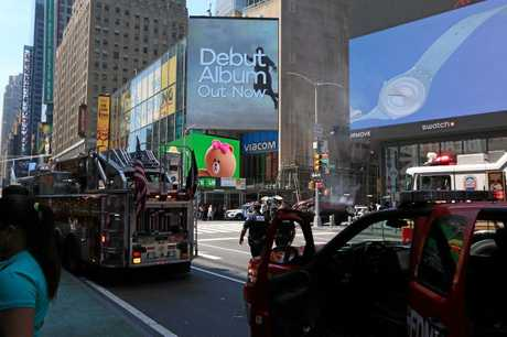 AFTERMATH: Bundaberg's Brooke Olive captured the scene following a horrific car crash in Times Square, New York City on Thursday, May 18, 2017.