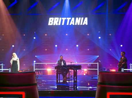 Toowoomba teen Brittania Clifford-Pugh in the knock-out stage of The Voice.