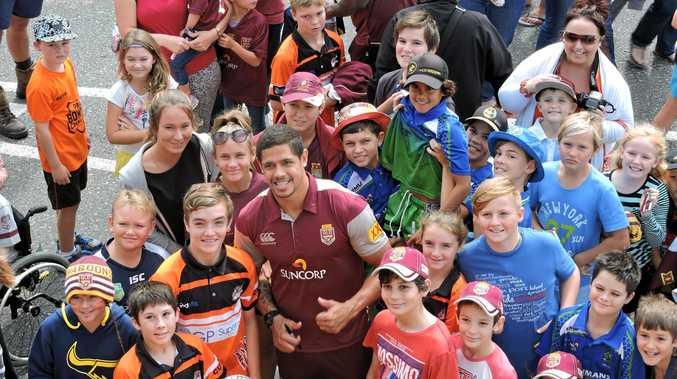 LOCAL HERO: Mackay boy Dane Gagai's inclusion in the Queensland team made him a big drawcard at a Proserpine fan day.