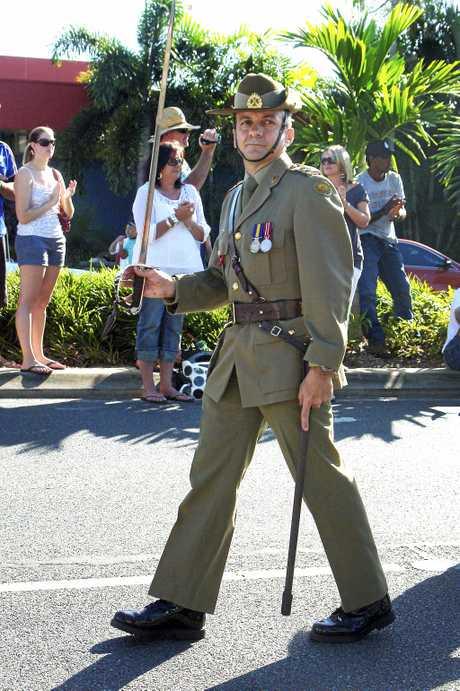 Mackay, Anzac Day March, 25 Apr 2009.Lt Col Frank Marchetti,