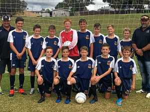 U-13s compete in zone football champs