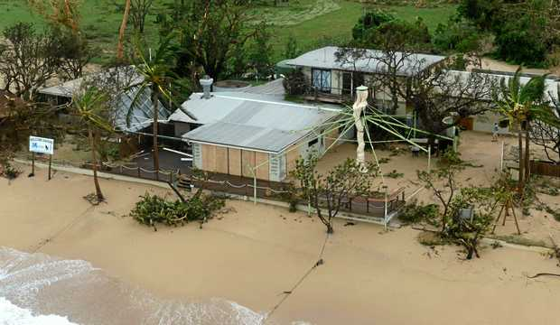 Damage caused by Cyclone Debbie stretched along the coast.
