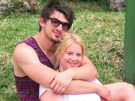 Scott Broadbridge with his drug accused fiance, Cassie Sainsbury.
