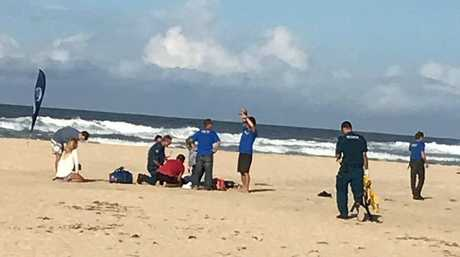 An eyewitness said the skydiver hit the ground hard and wasn't moving in yesterday's accident at Stumers Creek, north of Coolum Beach.