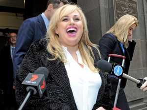 Actor Rebel Wilson outside court on Friday.