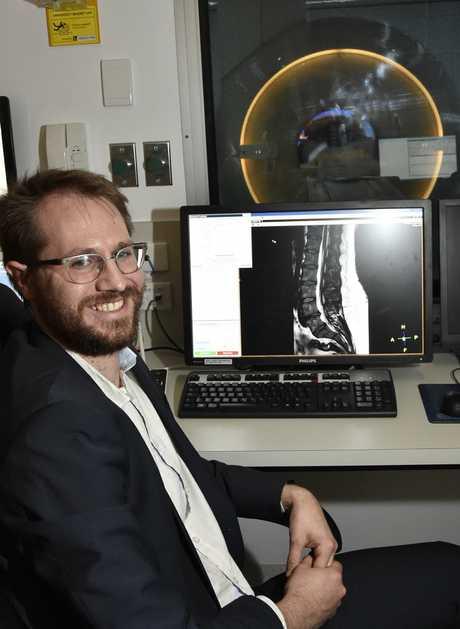 Toowoomba Hospital has its first MRI machine. Toowoomba Hospital MRI team leader Alastair Collett May 2017