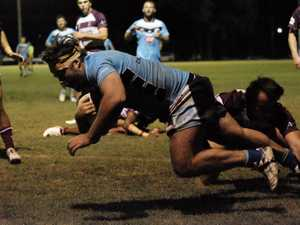 Try time. Miles Devils vs Wallumbilla Red Bulls.