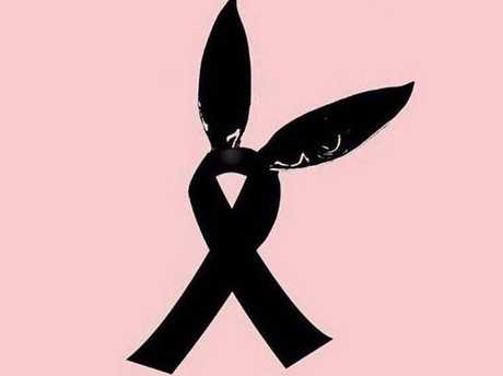 A symbol paying tribute to the dead and injured, and featuring Ariana Grande's rabbit ears, has spread across the internet.