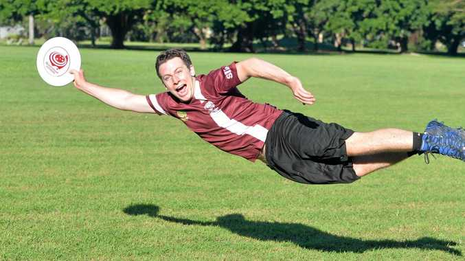 HAVE A GO: Queensland player Alex Sims has big plans for Ultimate Frisbee in Mackay.