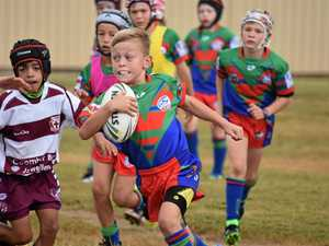 JUNIOR STARS: The under-10s game between the Benderoo Bulls and St John's at the St John's Oval on Saturday morning.