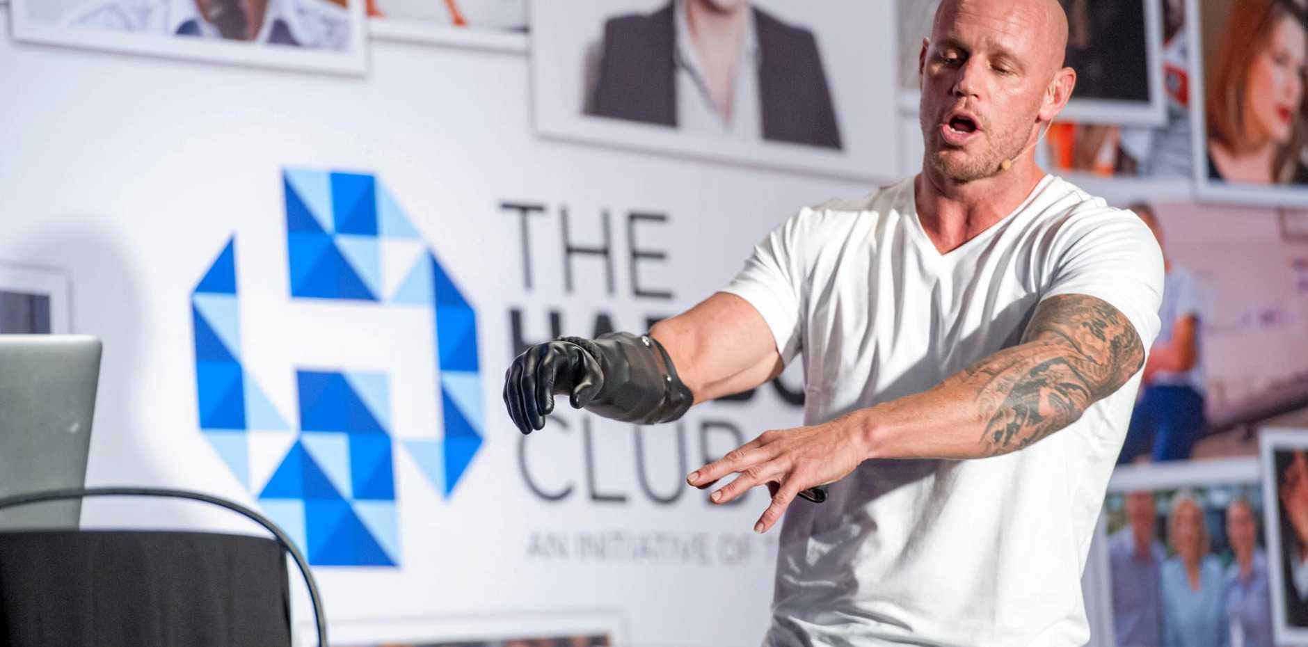 Shark attack survivor Paul de Gelder shares his powerful story with The Coffs Coast Advocate's Harbour Club at C.ex Coffs.