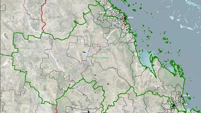 POLITICAL LINES: The LNP's proposed boundaries for Michelle Landry's Capricornia electorate.