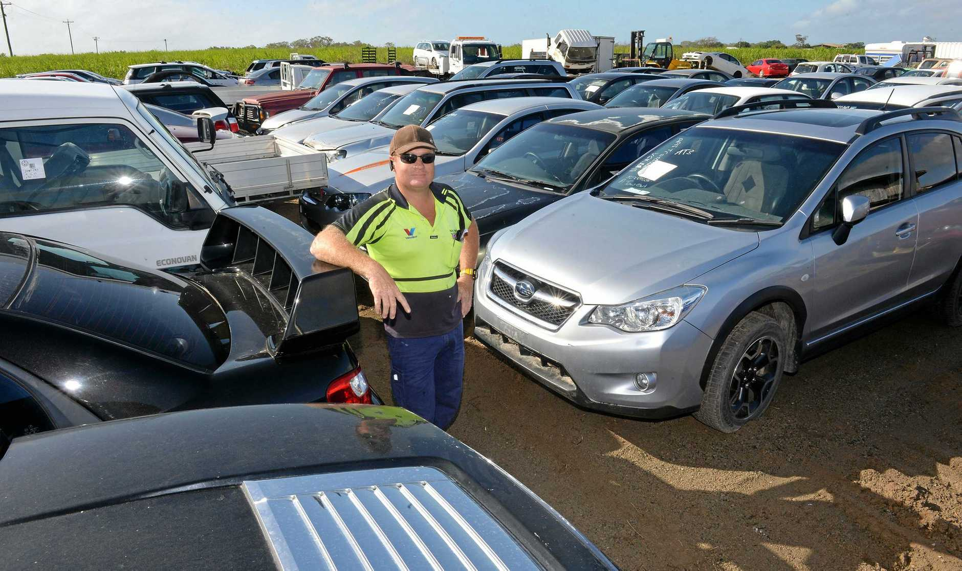 Shane Muntelwit says it's a shame so many vehicles can only be used for parts.