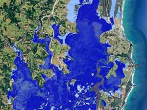 INUNDATION THREAT: Areas in dark blue show the impact of a 0.74m seal level rise, while areas in light blue show a 2m rise.