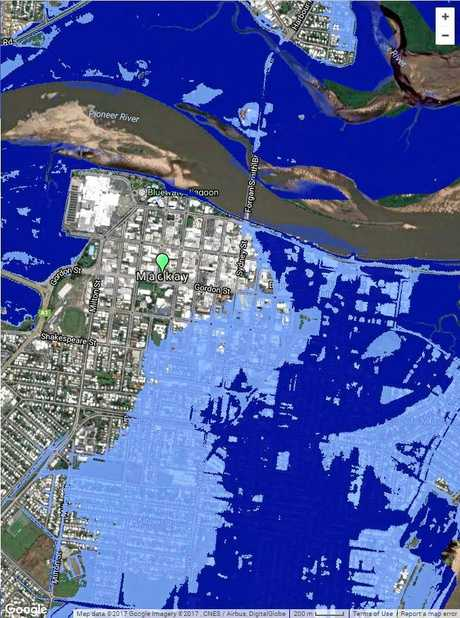 According to the new report west of Sydney St would be in danger of storm surge and flooding.