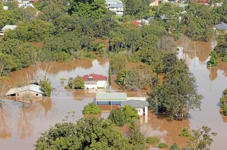 Floods Aerial Views Lismore Photo David Nielsen / Northern Star