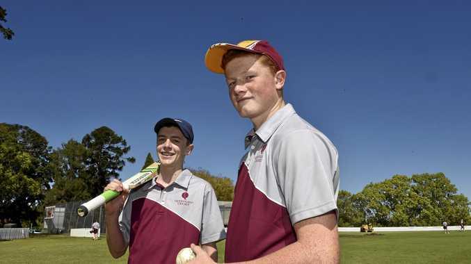Sam Morris at the Cricket coaching camp at Toowoomba Grammar.
