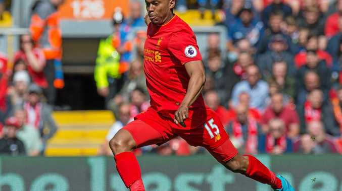 Liverpool's Daniel Sturridge in action during an English Premier League match against Southampton at Anfield.