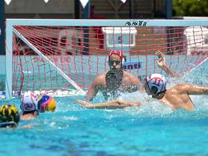 ACTION: Water Polo action has descended upon the Coast.