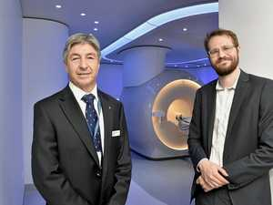 NEW MRI: Welcoming the first patients to use Toowoomba Hospital's first MRI machine is acting DDHHS board chair Dr Dennis Campbell (left) and Toowoomba Hospital MRI team leader Alastair Collett.