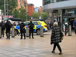 SCENE: Police outside Piccadilly station