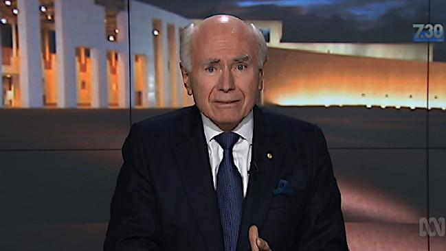 Former Prime Minister John Howard praises Tony Abbott on ABC's 7.30