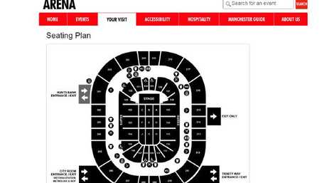 The layout of Manchester Arena.