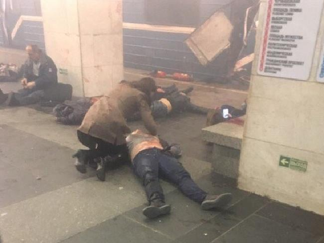 A huge explosion at the metro station in St. Petersburg left many wounded.