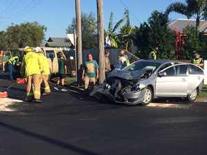 Walkervale two-car crash