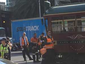 Melbourne tram and truck collide