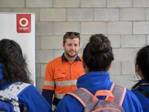 ENERGISING DREAMS: Dane O'Shea from Origin Energy chats with students.