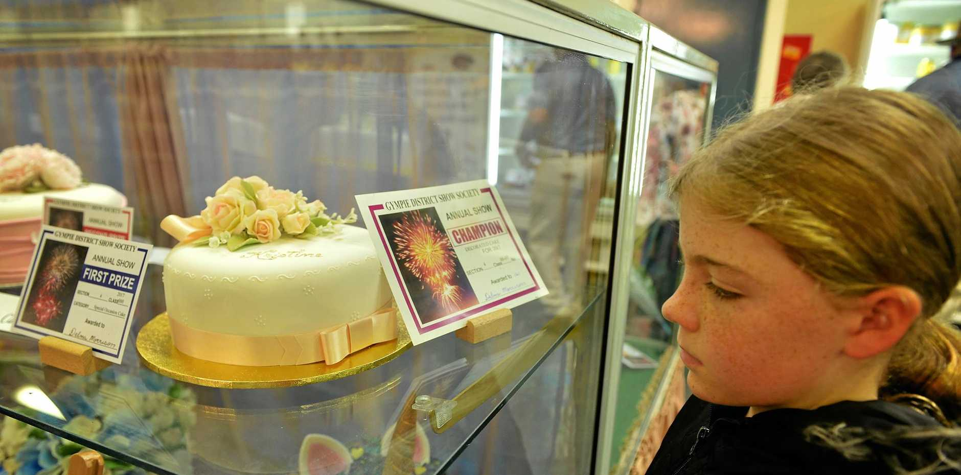 CLASSY: Delma Morrison took out the Champion Decorated Cake section at this year's Gympie Show.