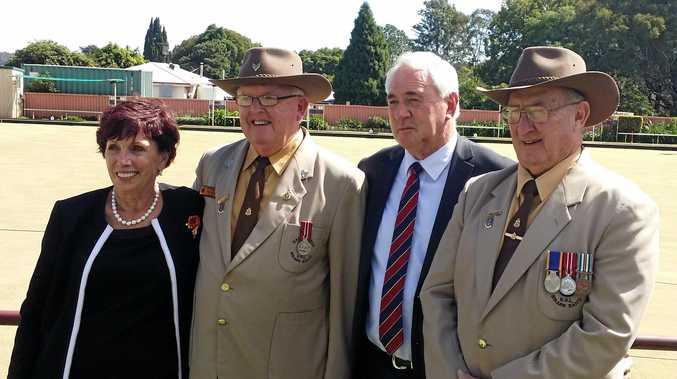 Celebrating the 50 years of service awards are (from left) deputy mayor Carol Taylor, Terry Muller, Toowoomba mayor Paul Antonio and Ian Corkill. ?