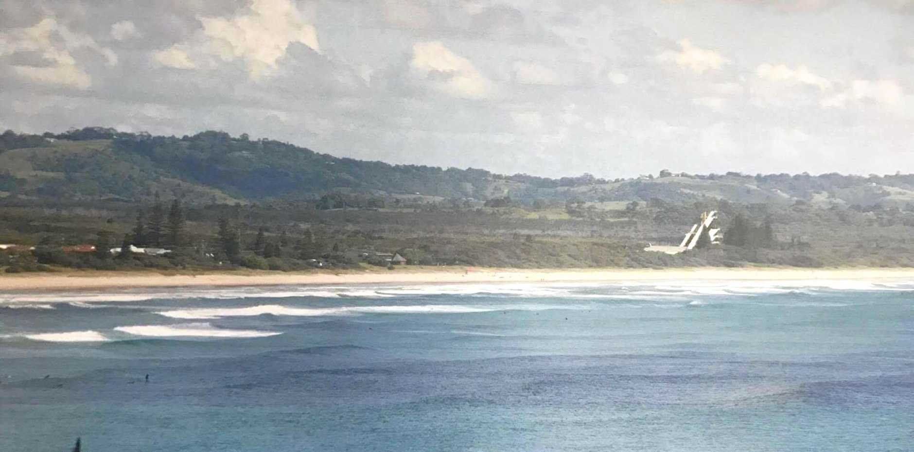 An artist impression of the Ski jump facility at Lennox Head. The size of the structure has upset locals, but it may not be as big as it appears in the artist impression.