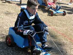 Nine-year-old Cruise Mason riding in a go-kart at Greenmount Heritage Fair. Photo Lucy Smith / Daily Mercury