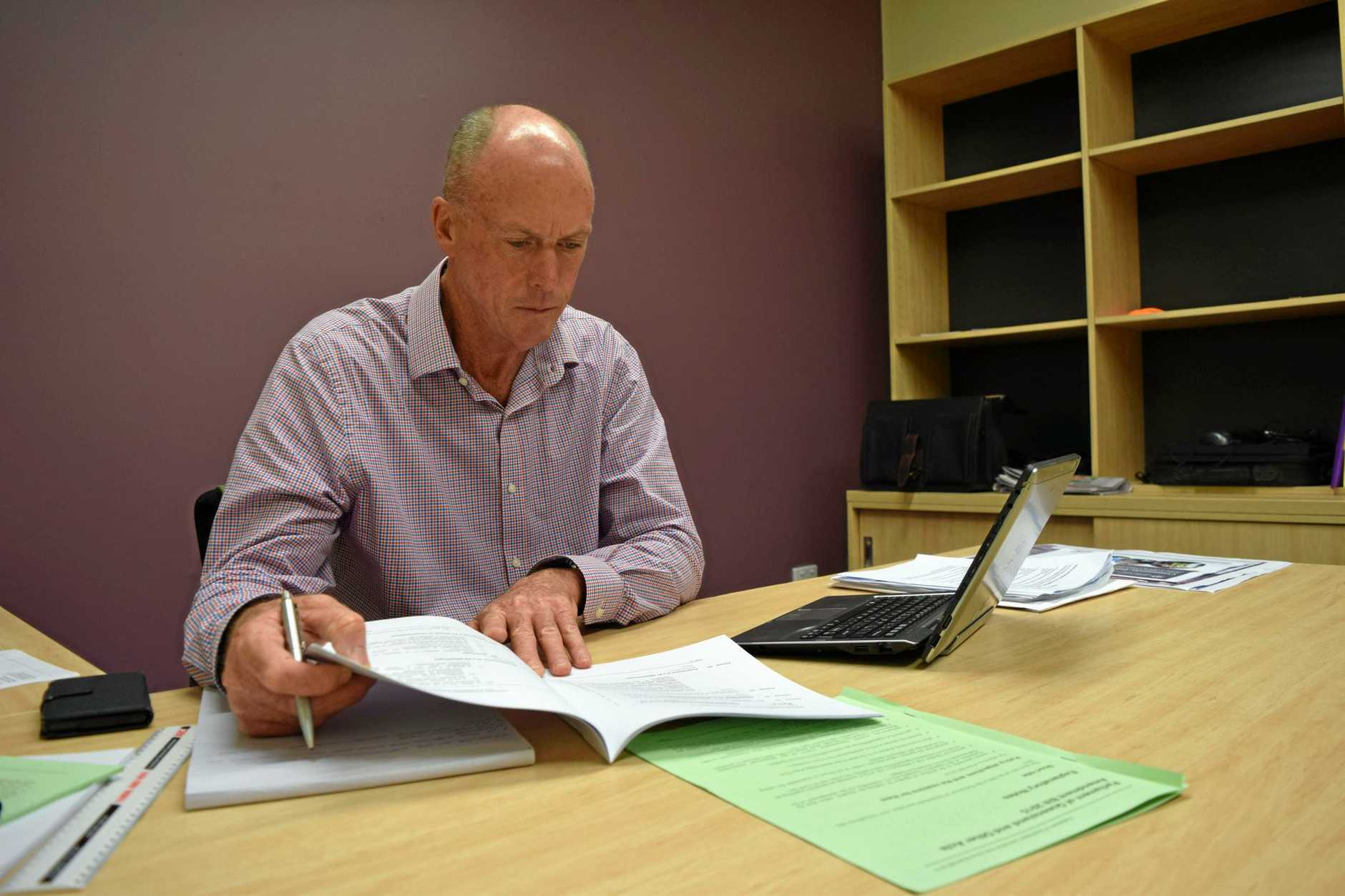 Member for  Condamine Pat Weir in his Dalby office.