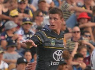 Mackay's Mitch Dunn playing in the NYC Cowboys team against the Cutters in Mackay in February.