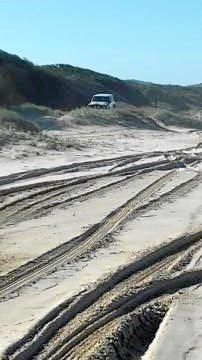 A resident, who didn't wish to be named, snapped one of the four-wheel drivers illegally  traversing the dunes at Seven Mile Beach on Sunday, May 21.