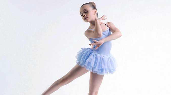 EN POINTE: Rockhampton's Kenzie Andrews, 10, was chosen as an ambassador for Australian ballet shoe and dancewear company, Bloch