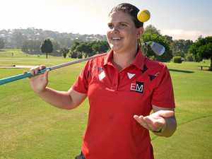 GETTING IT DONE: Gunabul golf professional Ellesha Michie is making plans to expand the junior game in Gympie.