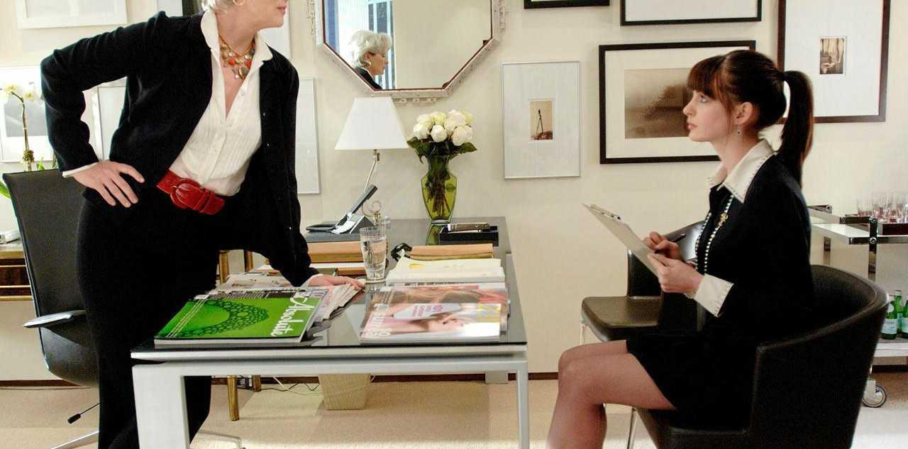 Meryl Streep and Anne Hathaway star in The Devil Wears Prada.