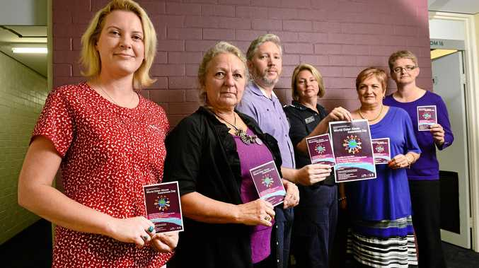 SHINE A LIGHT: Making a stand against elder abuse (from left) Megan Gadsby, Gaby Heuft, Peter Dorsett, Sergeant Nadine Webster, Penny Lester and Deanne Lawrie.