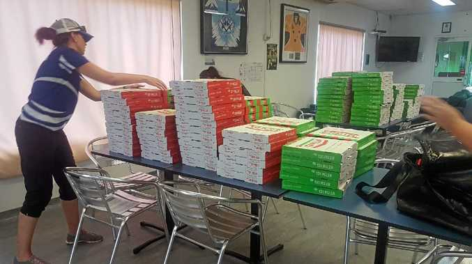 THAT'S AN ORDER: Ma's Pizza Kitchen delivered 511 pizzas to Mercy College Mackay. This is one-third of the order.